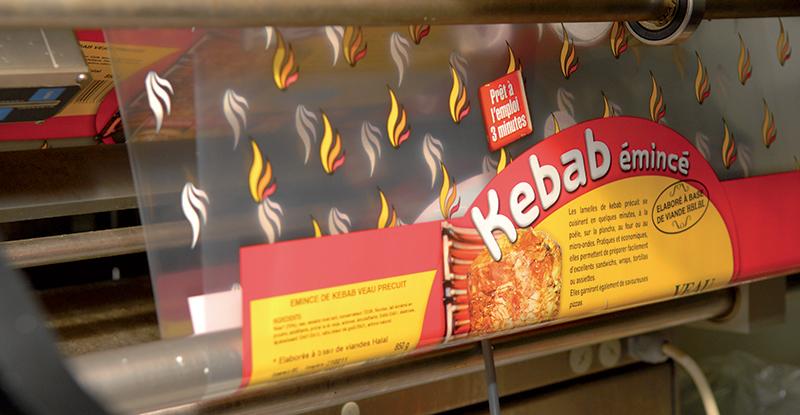 emballage sachet emince kebab