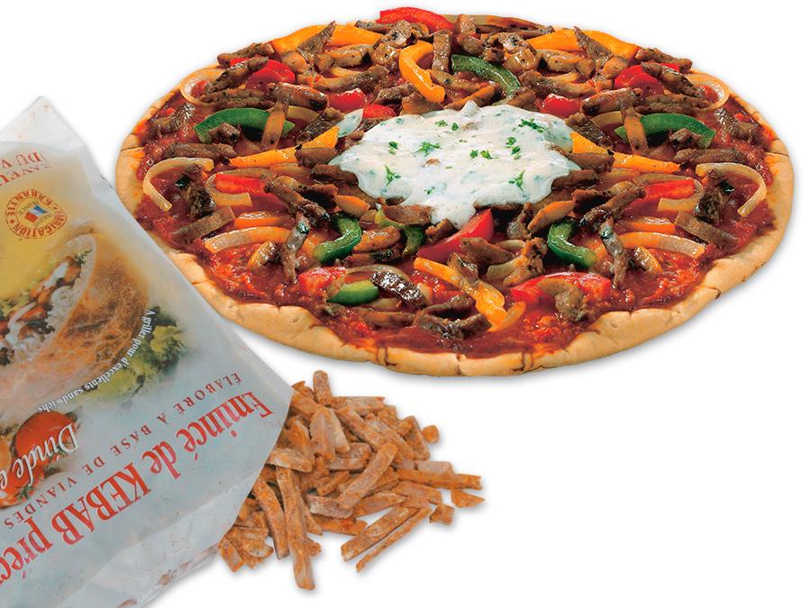pizza kebab et sachet